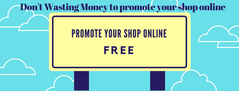 promote your shop online free