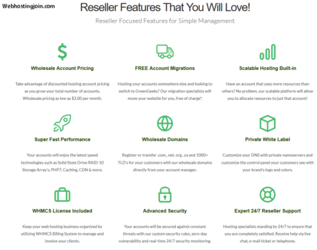GreenGeeks Reseller Feature