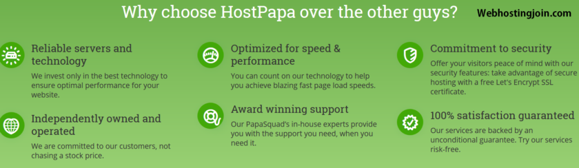 why choose Hostpapa web hosting