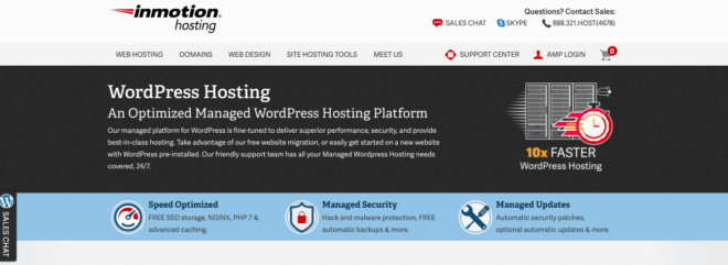 inmotionhosting WordPress discount offers