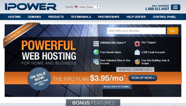 ipower discount hosting plans