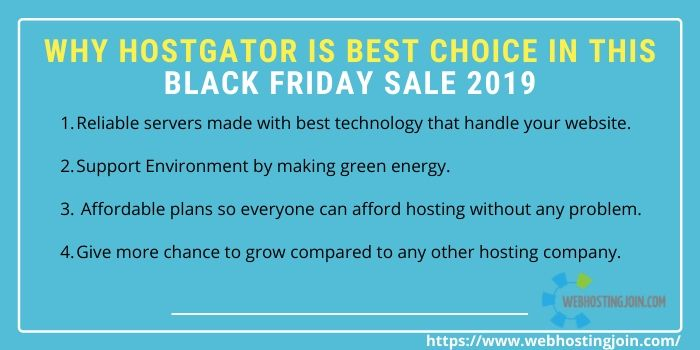 reasons why hostgator is best hosting provider on this black friday sale